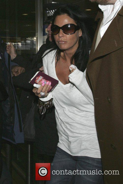 Arriving at Heathrow Airport from Australia after appearing...