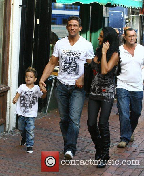 Katie Price, aka Jordan, with boyfriend Alex Reid and her son Junior 2