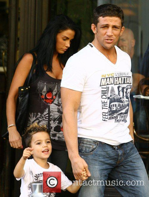 Katie Price, aka Jordan, with boyfriend Alex Reid and her son Junior 5