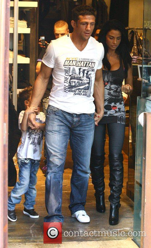 Katie Price, aka Jordan, with boyfriend Alex Reid and her son Junior 7