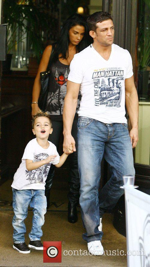 Katie Price, aka Jordan, with boyfriend Alex Reid and her son Junior 3