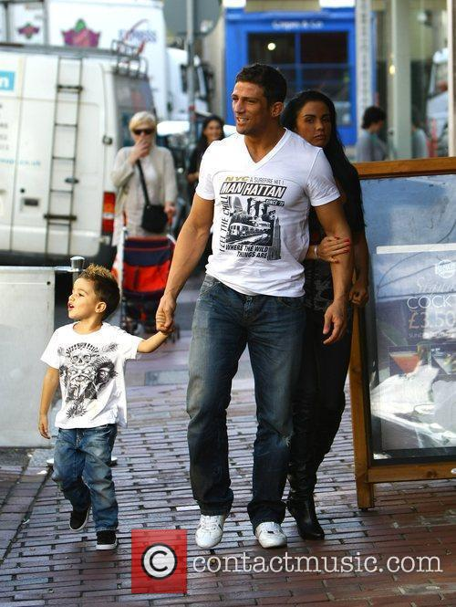 Katie Price, aka Jordan, with boyfriend Alex Reid and her son Junior 12