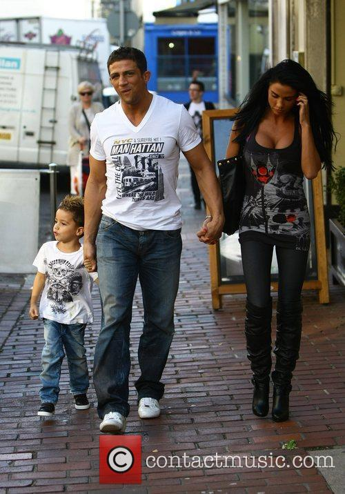 Katie Price, aka Jordan, with boyfriend Alex Reid and her son Junior 11