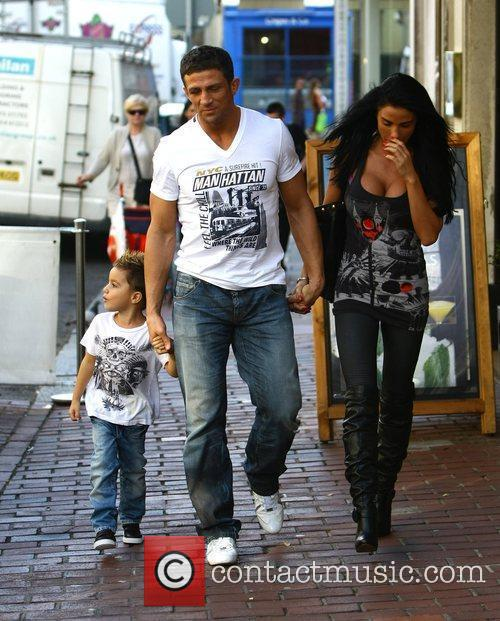 Katie Price, aka Jordan, with boyfriend Alex Reid and her son Junior 13