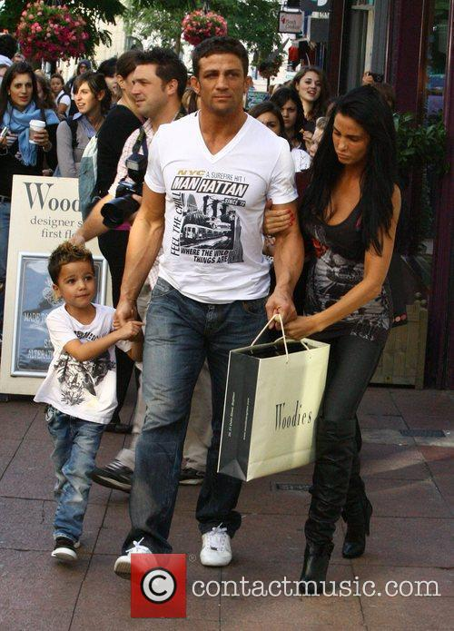 Katie Price, aka Jordan, with boyfriend Alex Reid and her son Junior 18