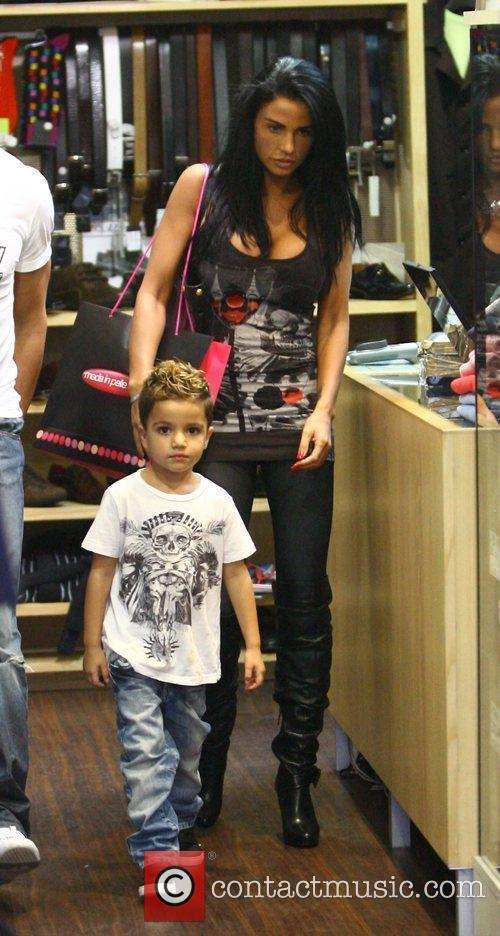 Katie Price, aka Jordan and with her son Junior 1