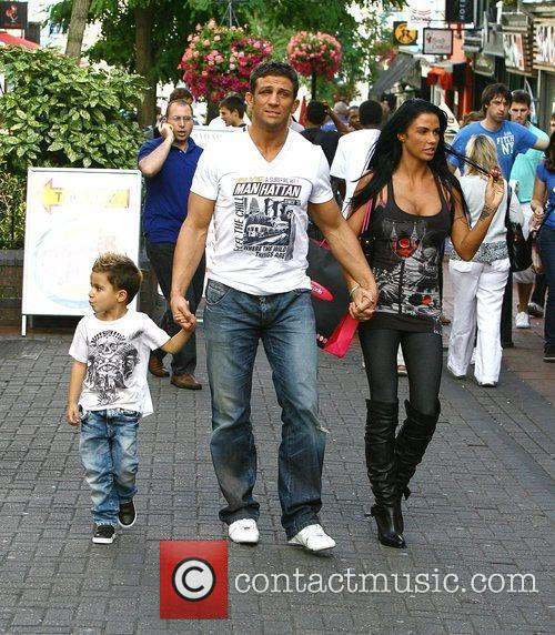 Katie Price, aka Jordan, with boyfriend Alex Reid and her son Junior 15