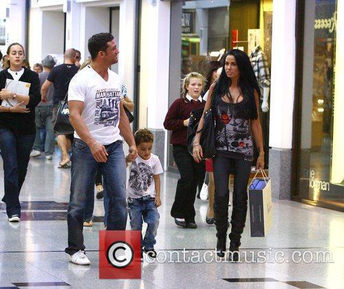 Katie Price, aka Jordan, with boyfriend Alex Reid and her son Junior 19