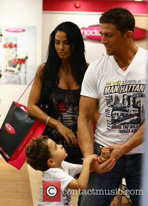 Katie Price, aka Jordan, with boyfriend Alex Reid and her son Junior 21