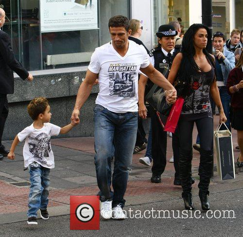 Katie Price, aka Jordan, with boyfriend Alex Reid and her son Junior 20