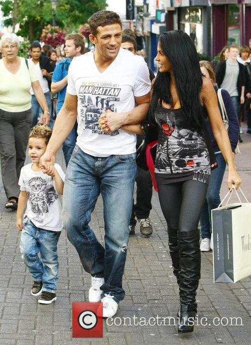 Katie Price, aka Jordan, with boyfriend Alex Reid and her son Junior 22