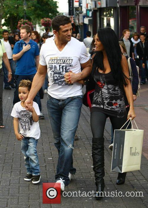 Katie Price, aka Jordan, with boyfriend Alex Reid and her son Junior 23