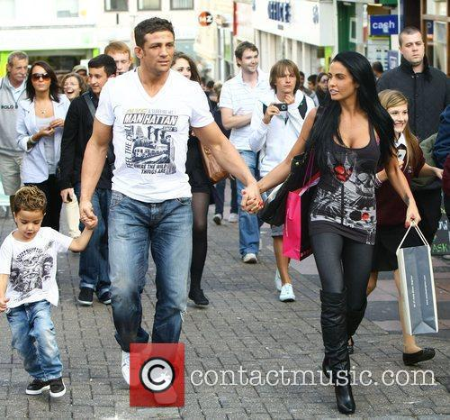 Katie Price, aka Jordan, with boyfriend Alex Reid and her son Junior 29