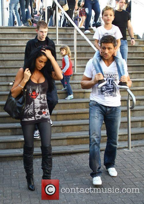 Katie Price, aka Jordan, with boyfriend Alex Reid and her son Junior 35