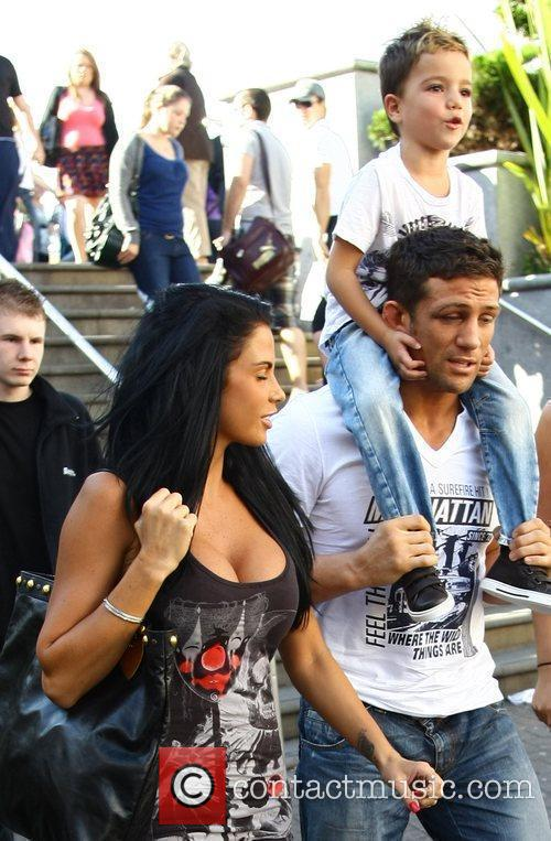 Katie Price, aka Jordan, with boyfriend Alex Reid and her son Junior 32