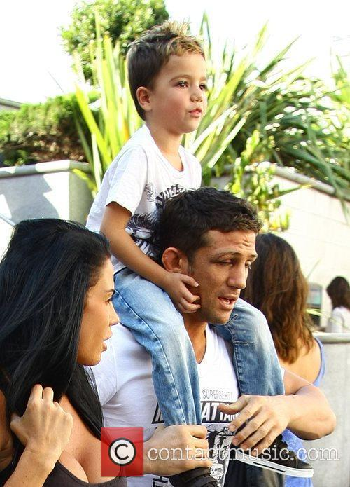 Katie Price, aka Jordan, with boyfriend Alex Reid and her son Junior 33