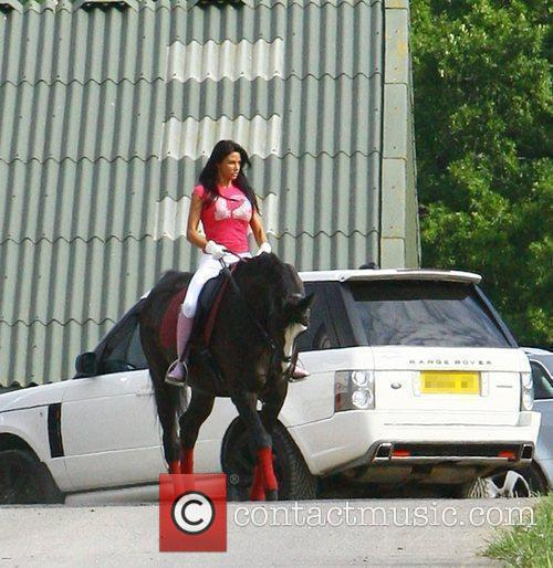 Katie Price aka Jordan goes for an early...