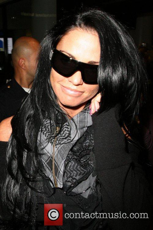Katie Price aka Jordan arrives at LAX airport...