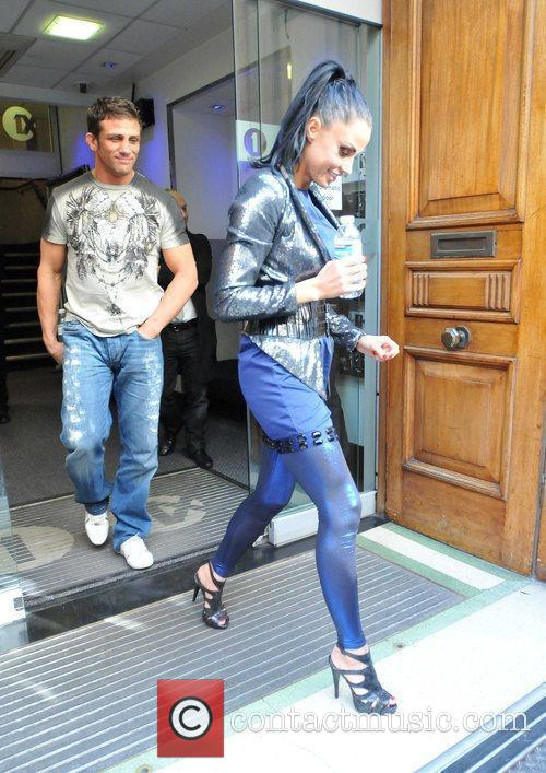 Katie Price and Alex Reid leave the Radio One studios after Katie appeared on the Trevor Nelson show 1