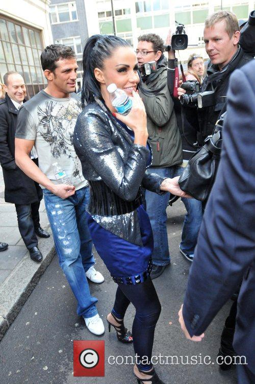 Katie Price and Alex Reid leave the Radio One studios after Katie appeared on the Trevor Nelson show 3