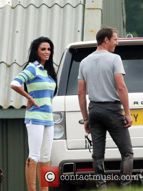 katie price aka jordan at the stables with her riding instructor andrew gould 2480976