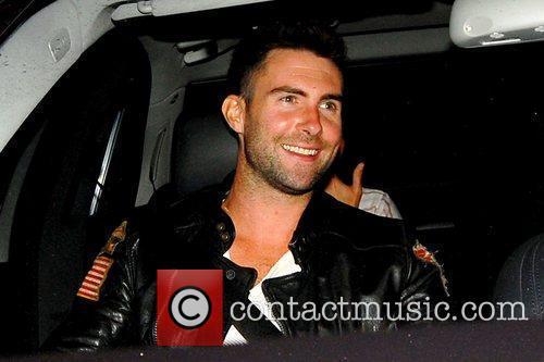 Adam Levine from Maroon 5 leaving Katsuya restaurant...
