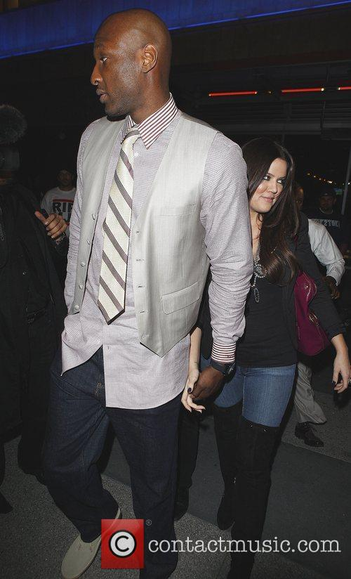 Khloe Kardashian and Lamar Odom Arriving At Katsuya Restaurant In Hollywood After The Los Angeles Lakers Beat The Clippers 99-97. 8
