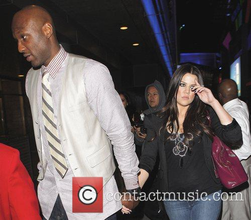Khloe Kardashian and Lamar Odom Arriving At Katsuya Restaurant In Hollywood After The Los Angeles Lakers Beat The Clippers 99-97. 5