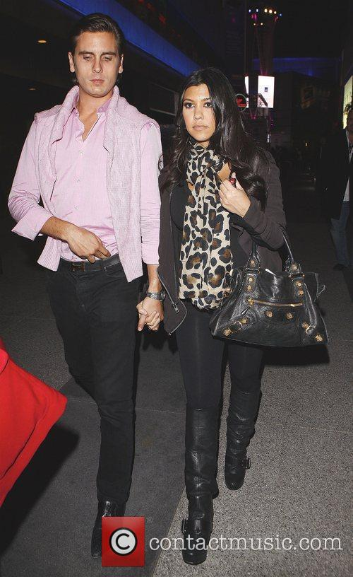 Kourtney Kardashian and Fiance Scott Disick Arriving At Katsuya Restaurant In Hollywood After Watching The Los Angeles Lakers Beat The Clippers 99-97. 1