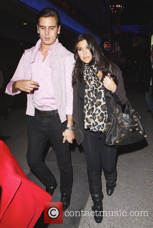 Kourtney Kardashian and Fiance Scott Disick Arriving At Katsuya Restaurant In Hollywood After Watching The Los Angeles Lakers Beat The Clippers 99-97. 3