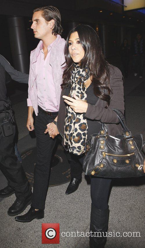 Kourtney Kardashian and Fiance Scott Disick Arriving At Katsuya Restaurant In Hollywood After Watching The Los Angeles Lakers Beat The Clippers 99-97. 2