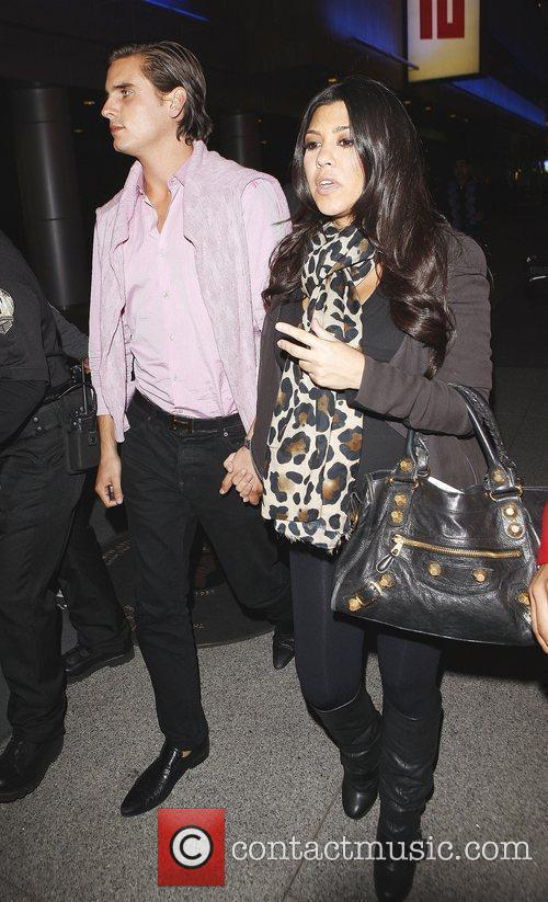 Kourtney Kardashian and Fiance Scott Disick Arriving At Katsuya Restaurant In Hollywood After Watching The Los Angeles Lakers Beat The Clippers 99-97. 4