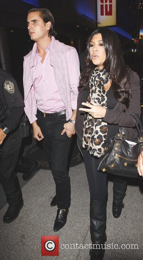 Kourtney Kardashian and Fiance Scott Disick Arriving At Katsuya Restaurant In Hollywood After Watching The Los Angeles Lakers Beat The Clippers 99-97. 5