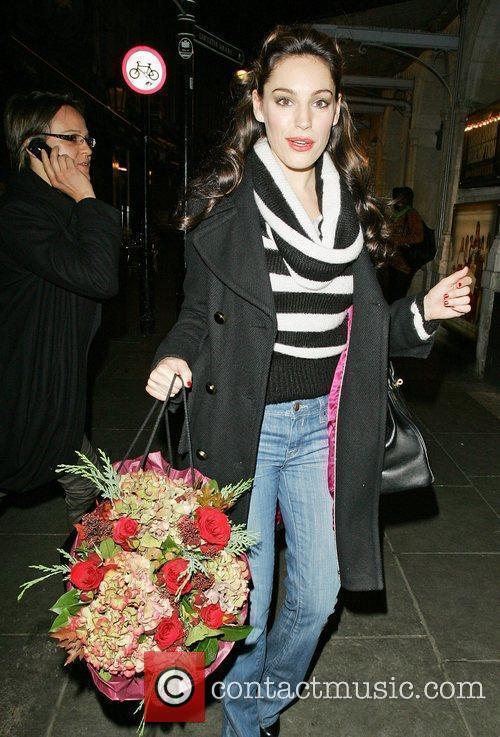 Kelly Brook  leaving the Noel Coward Theatre...