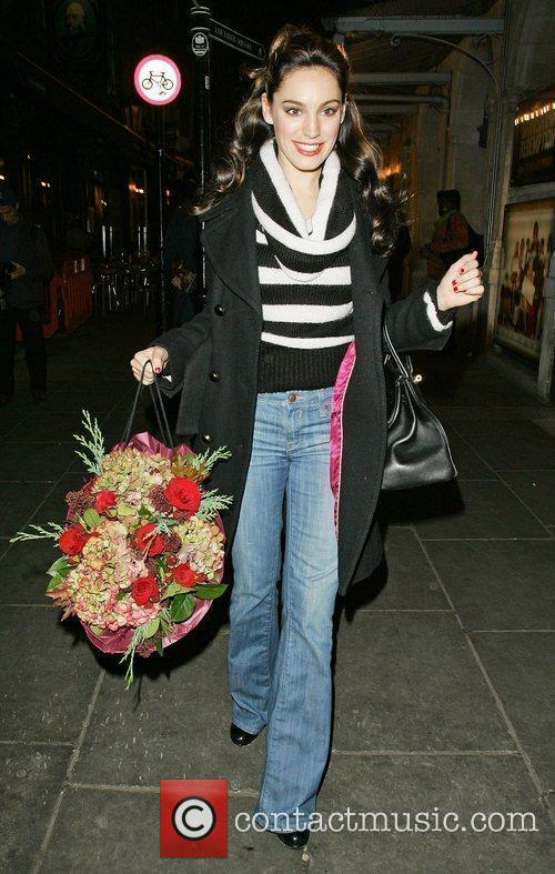 Leaving the Noel Coward Theatre after her performance...