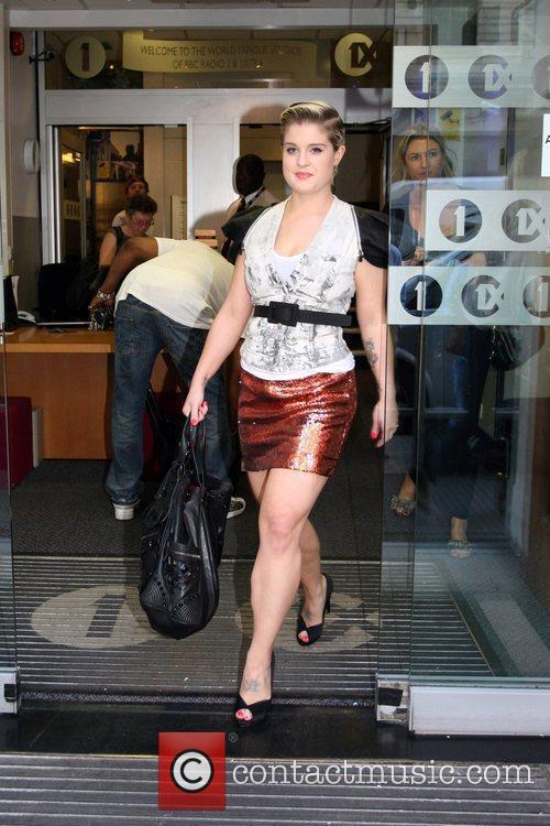 Seen leaving the Radio 1 studios.