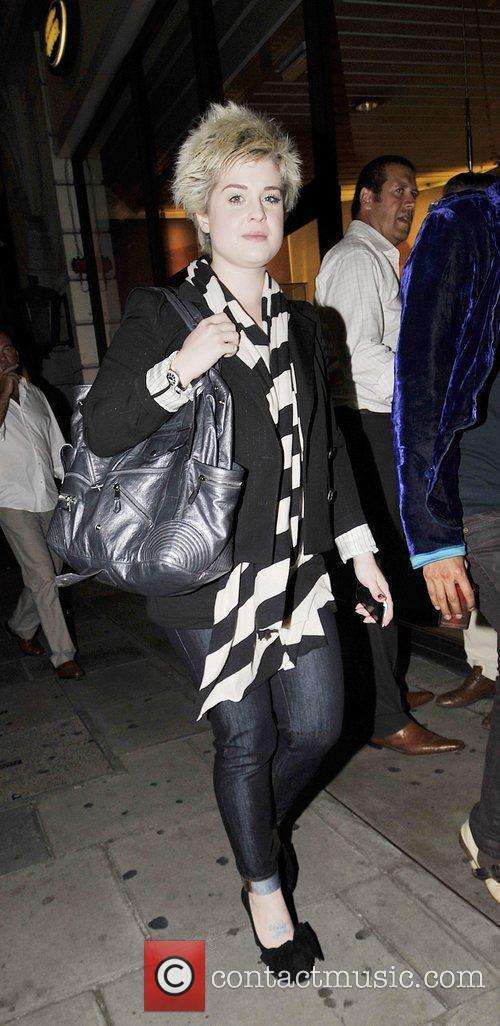 Kelly Osbourne leaving Nobu restaurant