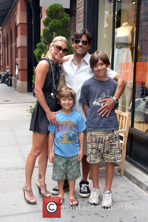 Kelly Ripa and Mark Consuelos out and about...