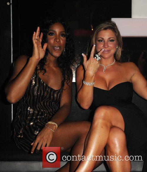 Kelly Rowland and Taylor King performing live at...