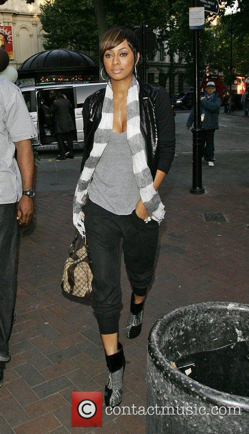 Keri Hilson arrives at the Capital FM studios