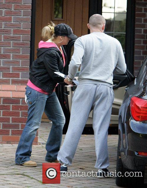 Leaving her house on the day her assault...