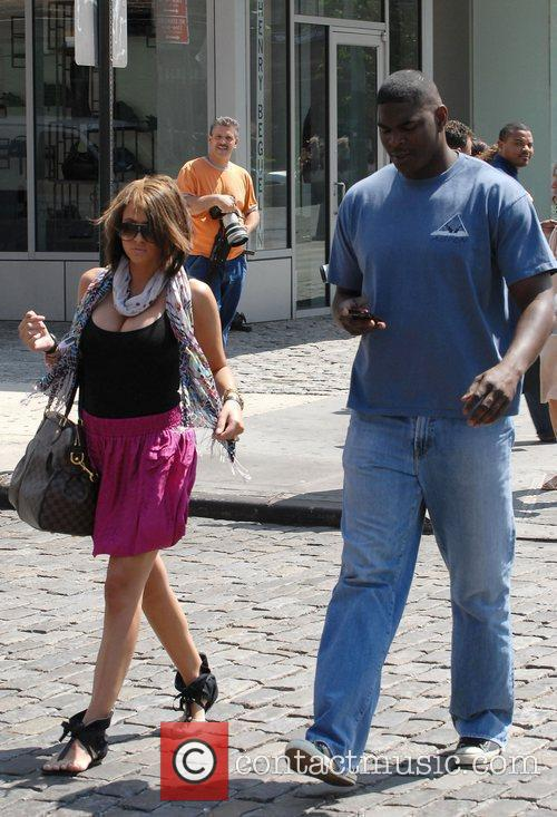 Keyshawn Johnson and a friend out and about...