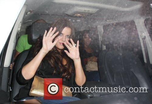 Khloe Kardashian leaving Mr Chow restaurant with her...