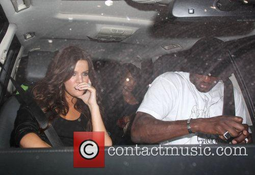 Newlyweds Khloe Kardashian and Lamar Odom leaving Mr...