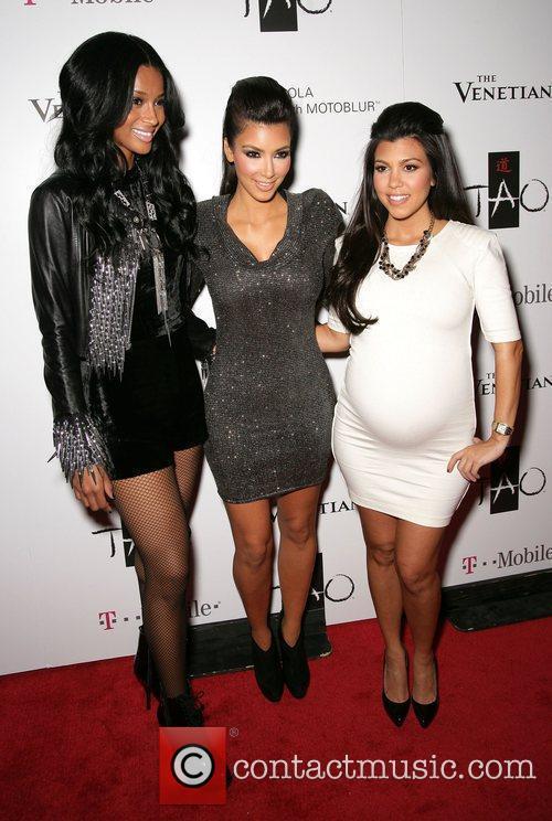 Ciara, Kim Kardashian and Kourtney Kardashian 3