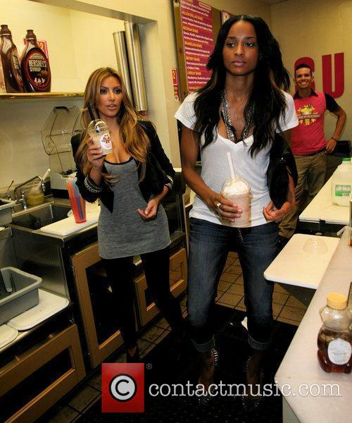 Kim Kardashian and Ciara 7