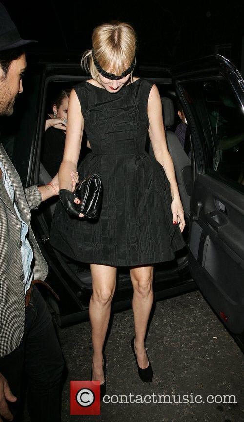 Kimberly Stewart arrives at Beach Blanket Babylon with...