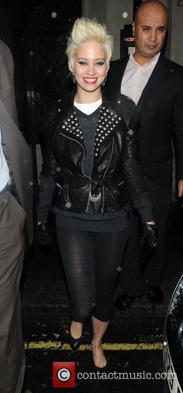Kimberly Wyatt leaves the Soho hotel London, England