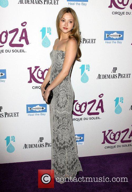 Devon Aoki attending KOOZA, the big top touring...