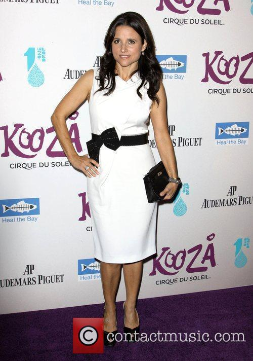 Julia Louis Dreyfus attending KOOZA, the big top...